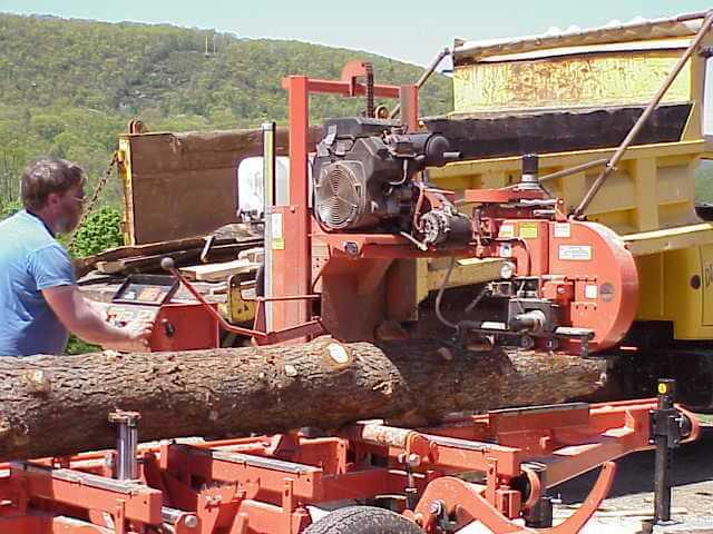 Diemad Farm's own sawmill.