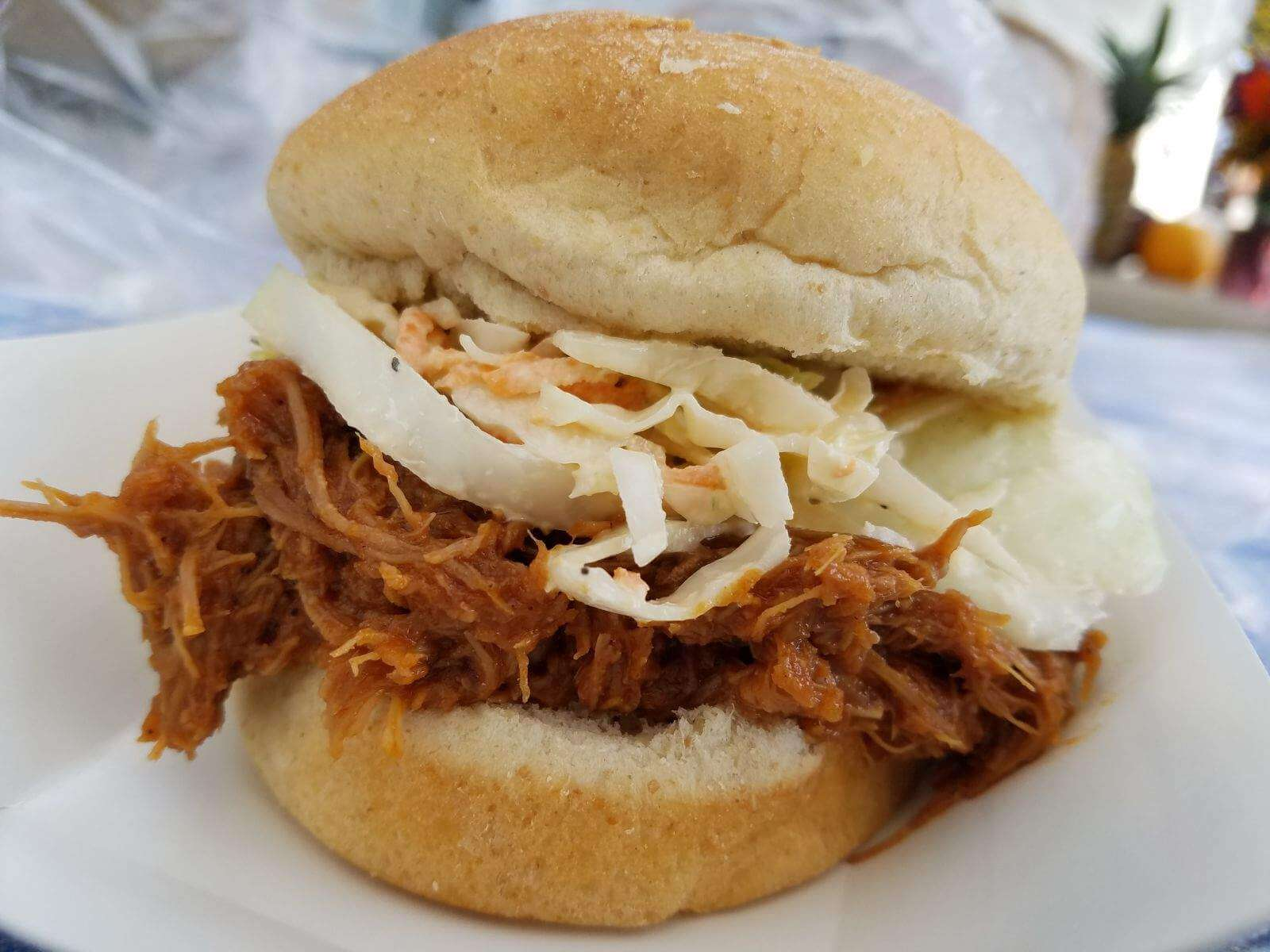 Our delicious BBQ Pulled Turkey Sandwich