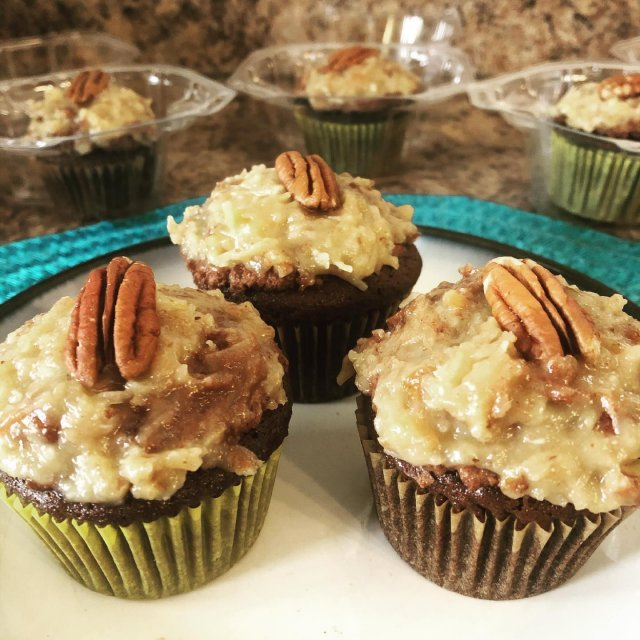 German chocolate cupcakes with chocolate mousse filling??! Yes please!! . . . #diemandfarm #wendellma #farmstore #chocolate #cupcakes #familyfarm #westernma #franklincounty #pioneervalley #bealocalhero #othersidema #visitwesternma #igers413 #newengland_igers #igersmass
