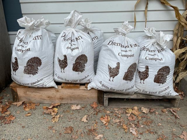 We have a limited number of compost bags available for sale—while supplies last! . . . #diemandfarm #wendellma #farmstore #shoplocal #buylocal #familyfarm #westernma #franklincounty #pioneervalley #bealocalhero #othersidema #visitwesternma #igers413 #newengland_igers #igersmass #compost #agemforyourgarden